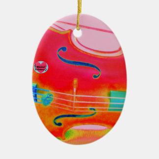 Musical Lifetimes Red Cello Oval Decoration Ceramic Ornament