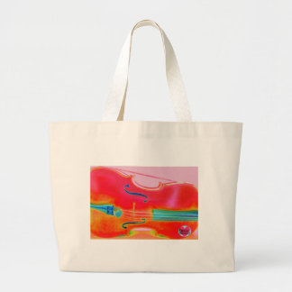 Musical Lifetimes Red Cello Tote Shopping Bag