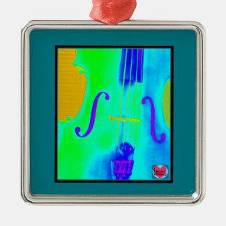 Musical Lifetimes Square Framed Cello Decoration Metal Ornament