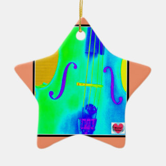 Musical Lifetimes Star Cello Hanging Decoration Ceramic Ornament