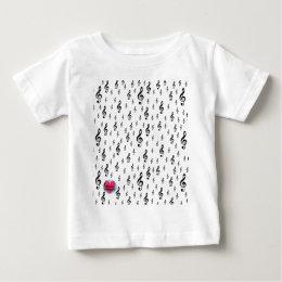 Musical Lifetimes Treble Clef Baby T-Shirt
