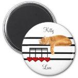 Musical love kitty cat fridge magnet