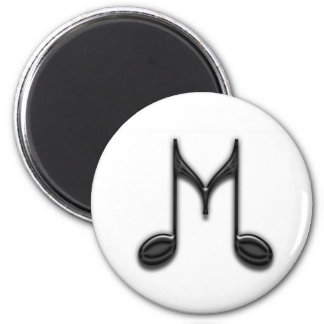 """Musical """"M"""" Letter 2 Inch Round Magnet"""