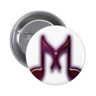 """Musical """"M"""" Letter Pinback Buttons"""