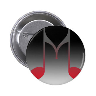 """Musical """"M"""" Letter Button"""