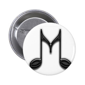 "Musical ""M"" Letter Button"