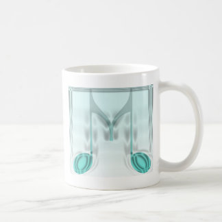 "Musical ""M"" Letter Classic White Coffee Mug"