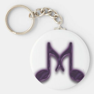 Musical M Letter Keychains