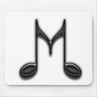 """Musical """"M"""" Letter Mouse Pad"""