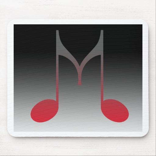 "Musical ""M"" Letter Mousepads"