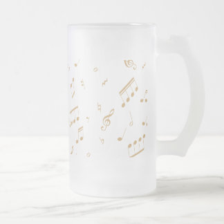 Musical Magic Frosted Glass Beer Mug