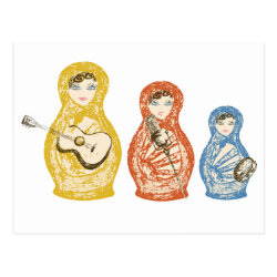 Musical Matryoshka Dolls Postcard