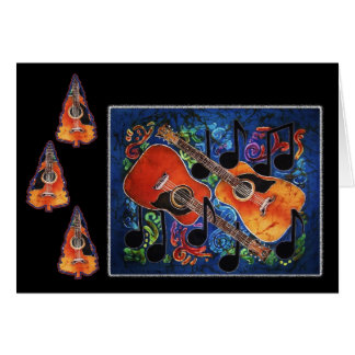Musical Merriment - Guitar Holiday Cards