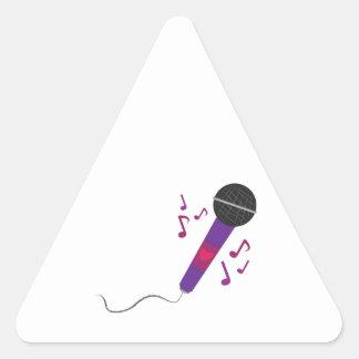 Musical Mic Triangle Sticker
