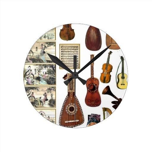 Musical moments round wallclock