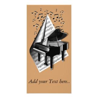 Musical  moments - Piano Photo Card