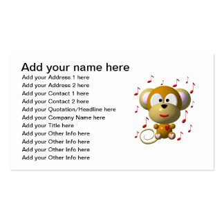 Musical monkey business card