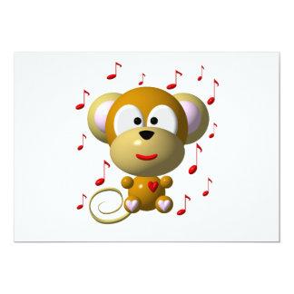 Musical monkey card
