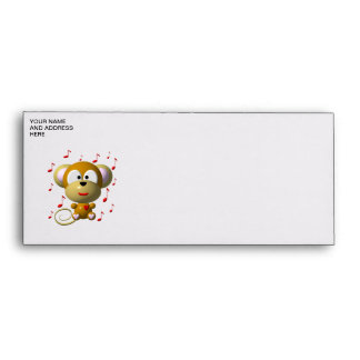 Musical monkey envelopes