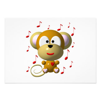 Musical monkey announcement