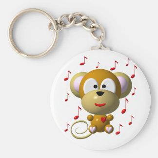 Musical monkey keychain