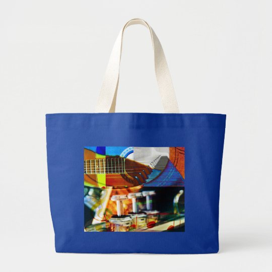 Musical Montage Large Tote Bag