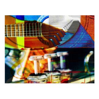 Musical Montage Postcard