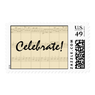 Musical Music Celebrate! Stamps