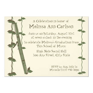 Musical Nature/ Bassoon 5x7 Paper Invitation Card