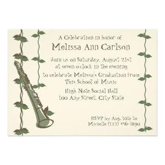 Musical Nature/ Clarinet Custom Invites