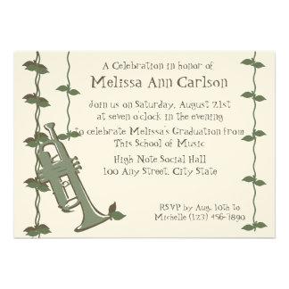 Musical Nature Trumpet Personalized Invite
