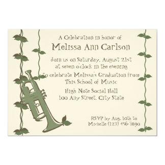 Musical Nature/ Trumpet 5x7 Paper Invitation Card