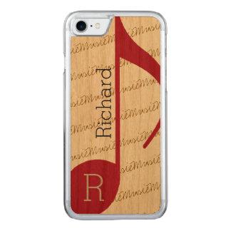 musical-nota roja real-fresca funda para iPhone 7