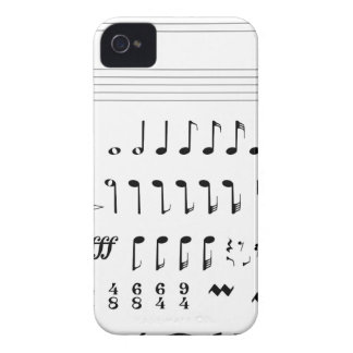 Musical Notation iPhone 4 Case-Mate Case