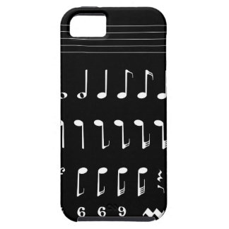 Musical Notation Negative iPhone SE/5/5s Case