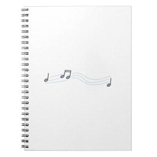 MUSICAL NOTATION SPIRAL NOTE BOOK