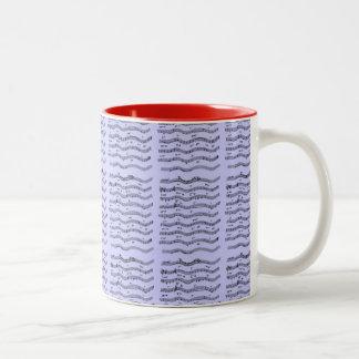 Musical Notation Sheet Music Designer Two-Tone Coffee Mug