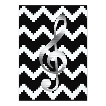 Art Themed Musical note - Abstract geometric pattern Card