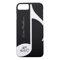 musical note ~ add initial iPhone 7 case
