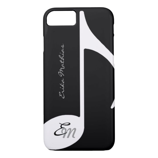 musical note ~ add initial iPhone 8/7 case
