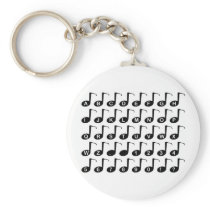 Musical Note Alphabet Keychain