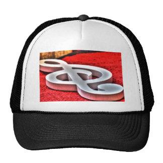 MUSICAL NOTE ART EFFECTS TRUCKER HAT