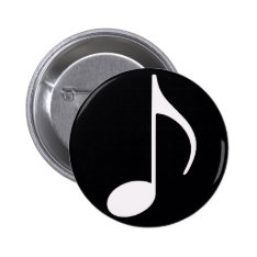 Musical Note ~ Black Button at Zazzle