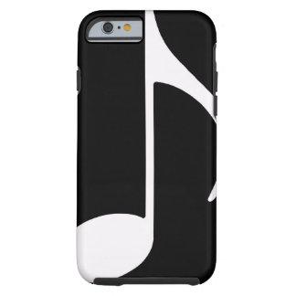 musical note ~ black tough iPhone 6 case