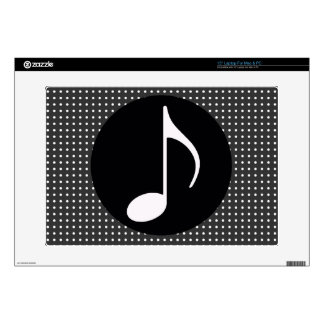 musical note ~ black decal for laptop