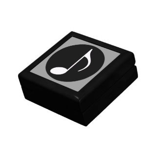 musical note ~ black gift box