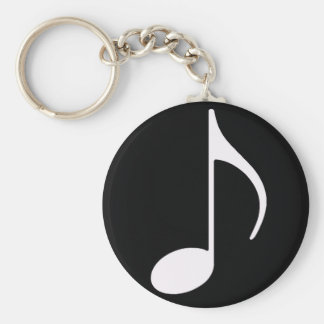 musical note black key chains