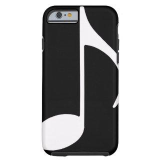 musical note / black tough iPhone 6 case