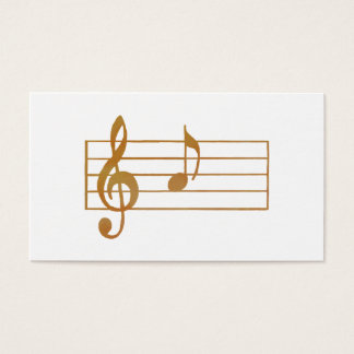 Musical Note Business Card