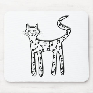 Musical note cat mousepads